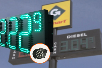 Pixel Cluster Gas Price Sign